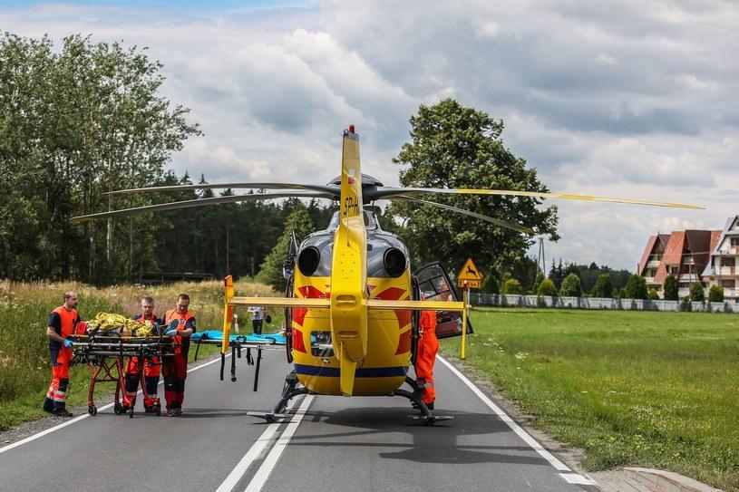 Policjant śmigłowem został przetransportowany do szpitala (fot. ilustracyjne) /Michał Adamowski /Reporter