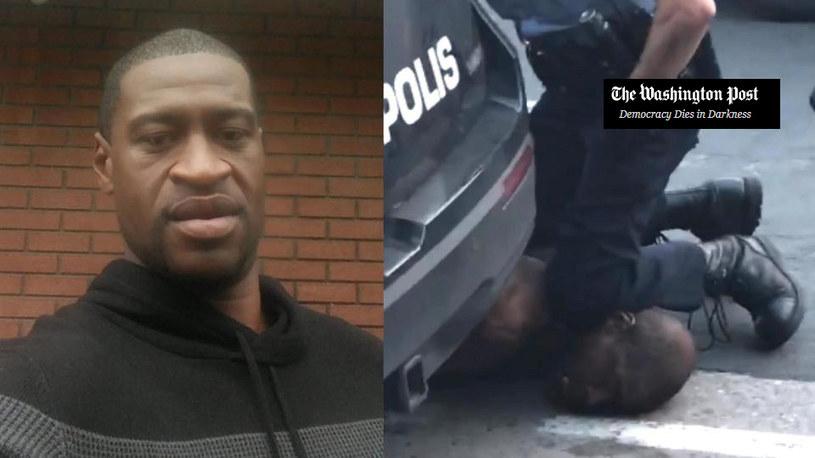 Policjant udusił kolanem George'a Floyda /Twitter