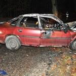 Policjant uratował kierowcę przed śmiercią w płomieniach