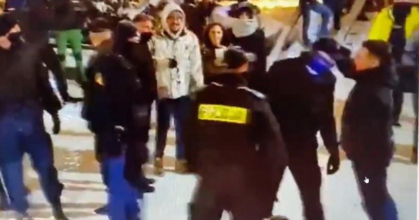 Policyjna interwencja na Krupówkach /Twitter / Jagna Marczułajtis-Walczak /Twitter