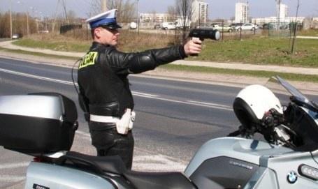 Policyjna kontrola pomiaru prędkości /KWP Radom