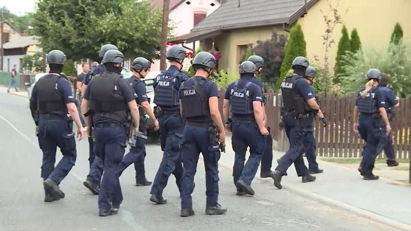 Policyjna obława w trzech województwach /Screen z Polsat News /Polsat News