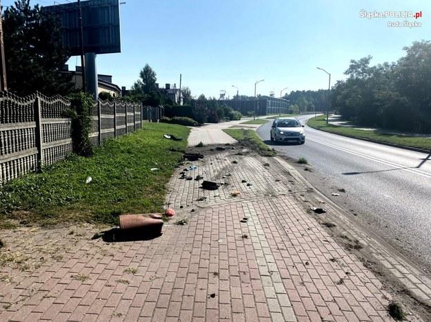Policyjne zdjęcia z miejsca zdarzenia /Policja Śląska /