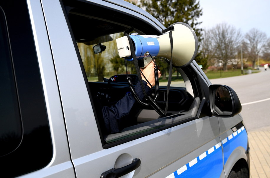 Policyjny patrol na bulwarach w Rzeszowie /Darek Delamanowicz /PAP