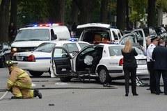 Policyjny pościg i strzały koło Kapitolu