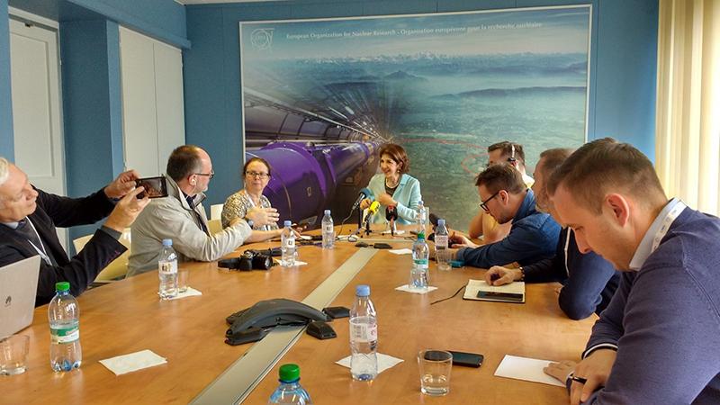 Polish National Media Visit w CERN /Pawel Brückman de Renstrom (EPPCN) /Materiały prasowe