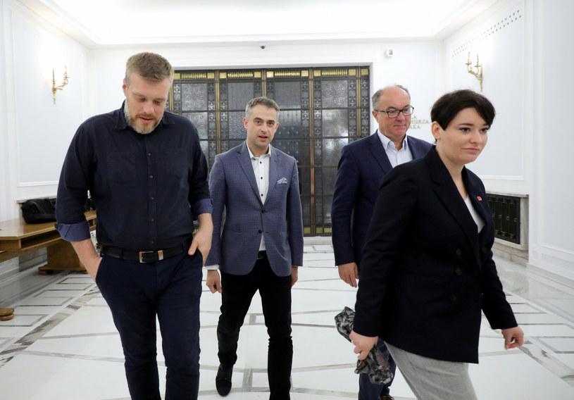 Politycy klubu Lewicy w październiku 2019 r. /Piotr Molecki /East News