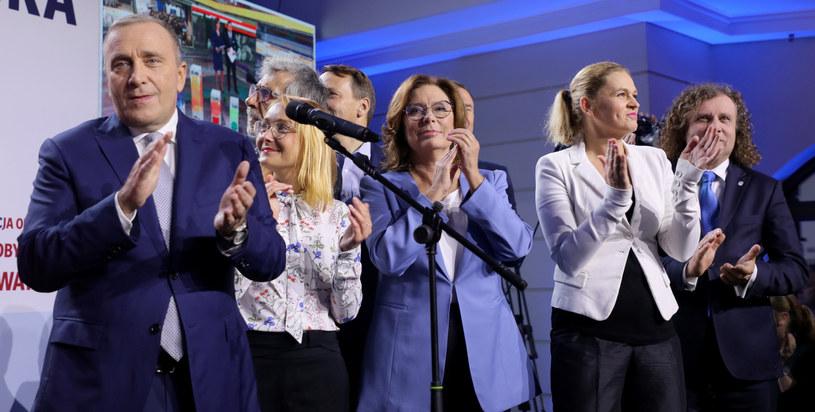 Politycy KO po ogłoszeniu wyników wyborów / Jakub Kamiński    /East News