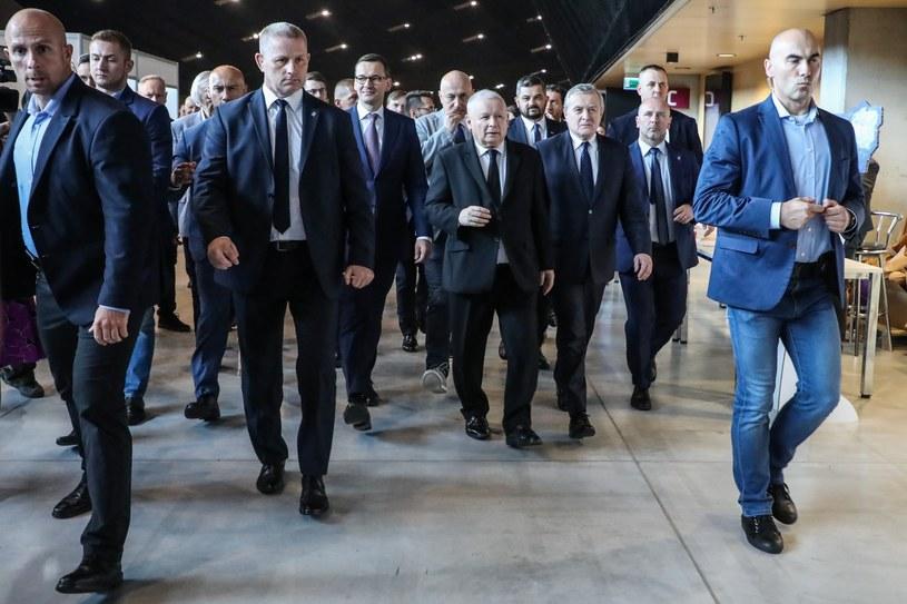 Politycy PiS podczas konwencji programowej partii w Katowicach /Beata Zawrzel/REPORTER /Reporter