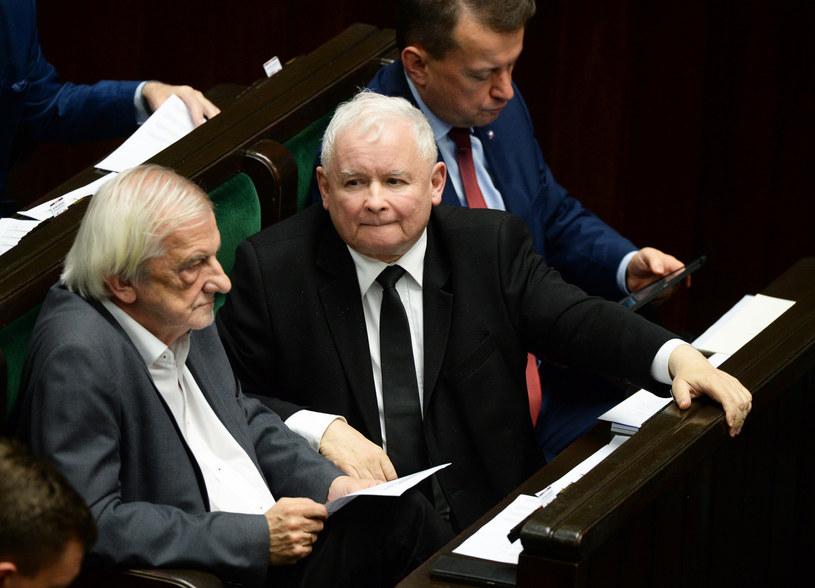 Politycy PiS w ławach sejmowych /Jan Bielecki /East News