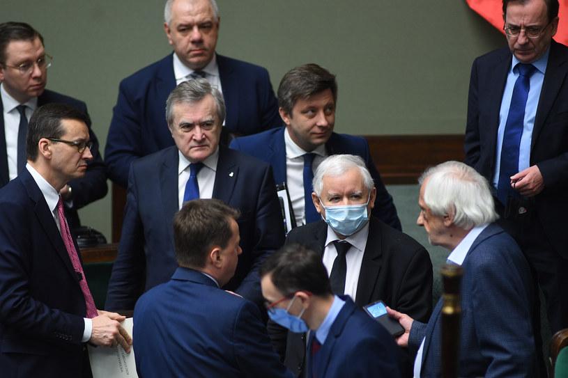 Politycy PiS w Sejmie /fot. Adam Chelstowski /Agencja FORUM