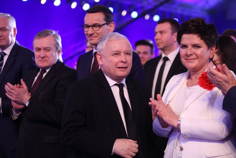 Politycy PiS /Stefan Maszewski /Reporter