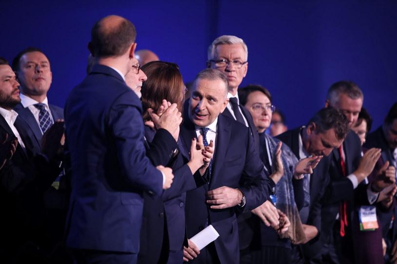 Politycy PO podczas konwencji /Leszek Szymański /PAP