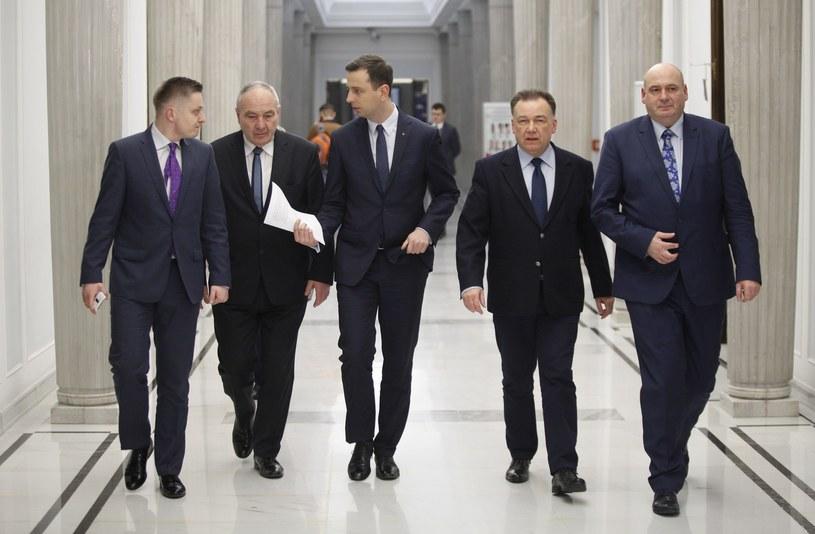 Politycy PSL, od lewej: Jakub Stefaniak, Kazimierz Kotowski, Władysław Kosiniak Kamysz, Adam Struzik i Piotr Zgorzelski /Stefan Maszewski /Reporter