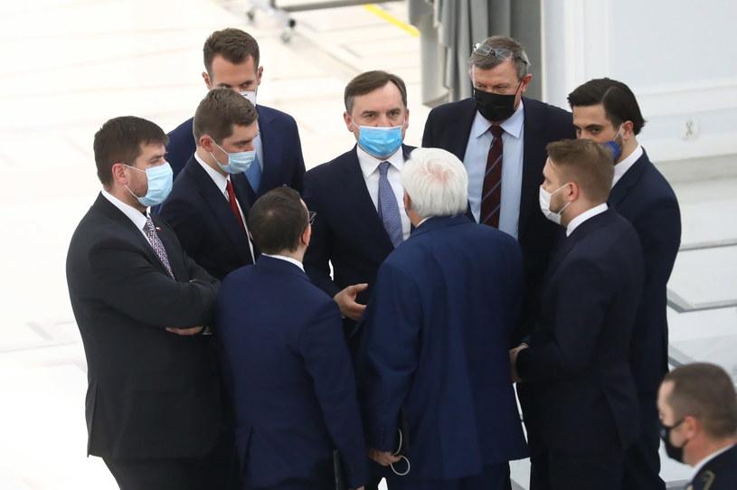 Politycy Solidarnej Polski w Sejmie /Rafał Guz /PAP