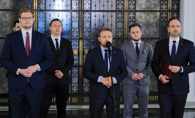 Politycy Solidarnej Polski /Mateusz Marek /PAP