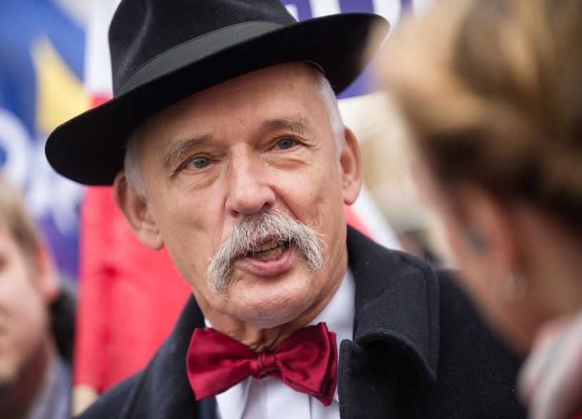 Polityk prawicy z krwi i kości, lider Partii KORWiN, Janusz Korwin-Mikke /Bartosz Krupa /East News