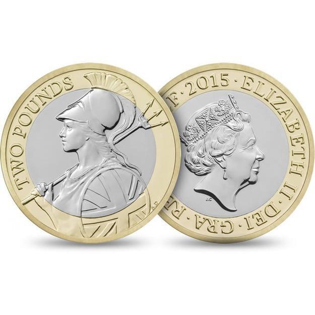Polka jako mityczna Brytania na 2-funtowej monecie/ foto. royalmint.com/ /Internet