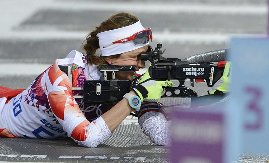 Polka Monika Hojnisz zajęła szóste miejsce w biathlonie /FILIP SINGER /PAP/EPA