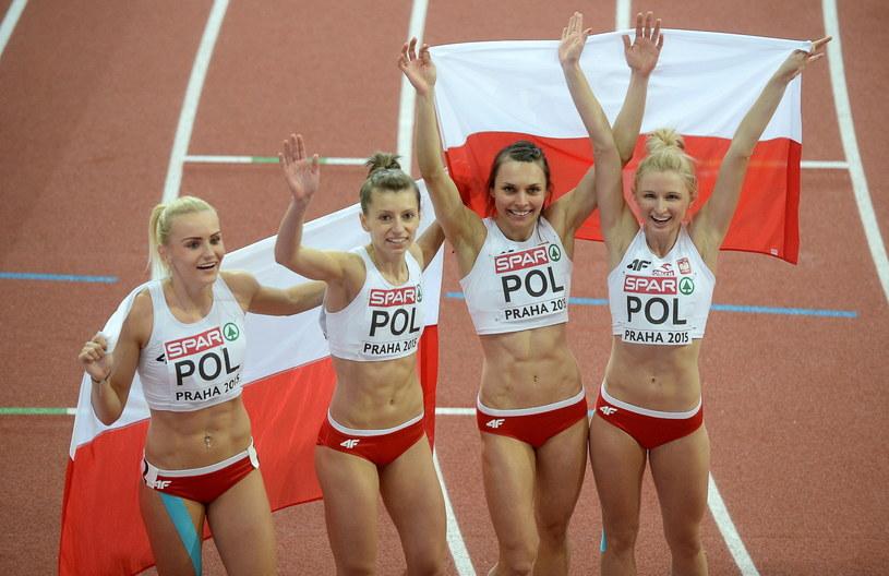 Polki zdobyły brązowy medal w sztafecie 4x400 m /Fot. Bartłomiej Zborowski /PAP