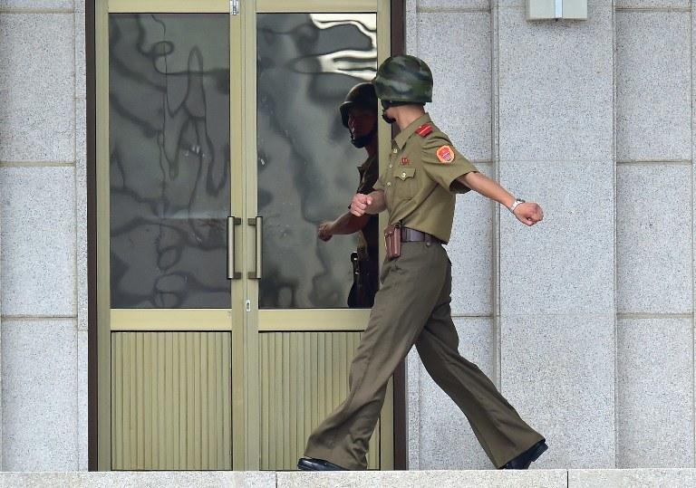Północnokoreański żołnierz na granicy, zdj. ilustracyjne /AFP