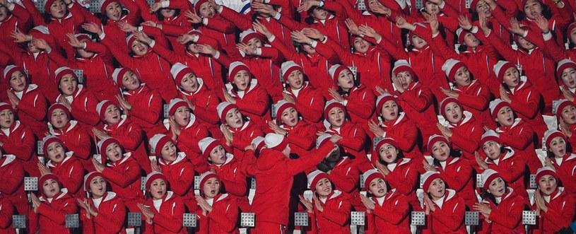 Północnokoreańskie cheerleaderki w Pjongczangu /AFP