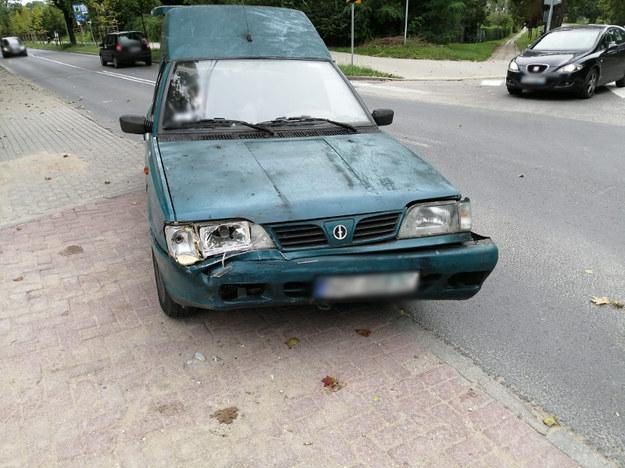 Polonez, którym jechał stulatek /Policja