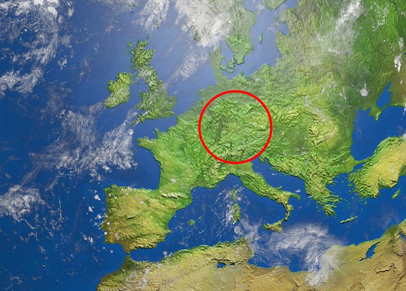 Położenie Badenii-Wirtembergii na tle mapy Europy /123RF/PICSEL