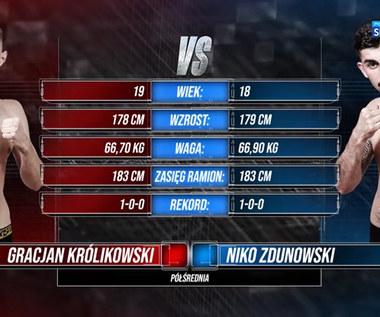 Polsat Boxing Promotions. Gracjan Królikowski - Niko Zdunowski. Skrót walki (POLSAT SPORT). Wideo