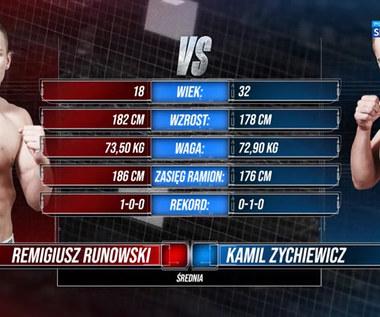 Polsat Boxing Promotions. Remigiusz Runowski - Kamil Zychiewicz. Skrót walki (POLSAT SPORT). Wideo