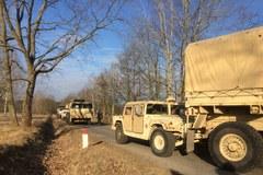 Polscy i amerykańcy żołnierze ćwiczyli procedury związane z wypadkami drogowymi