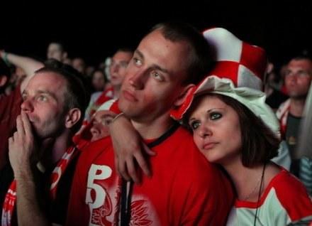 Polscy kibice nie mają powodów do radości. /AFP