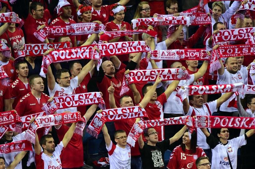 Polscy kibice podczas ME w piłce ręcznej /AFP