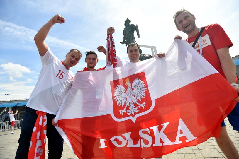 Polscy kibice w drodze na stadion w Moskwie /Bartłomiej Zborowski /PAP
