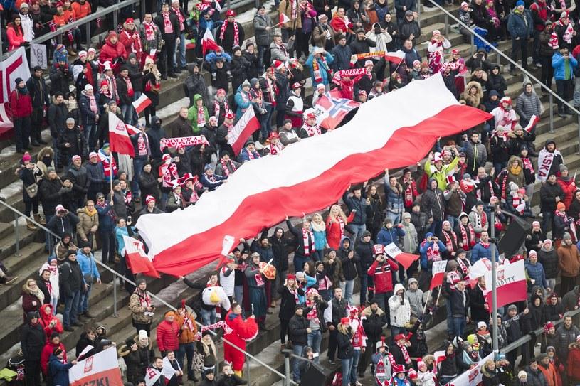 Polscy kibice w Oslo /PAP/EPA