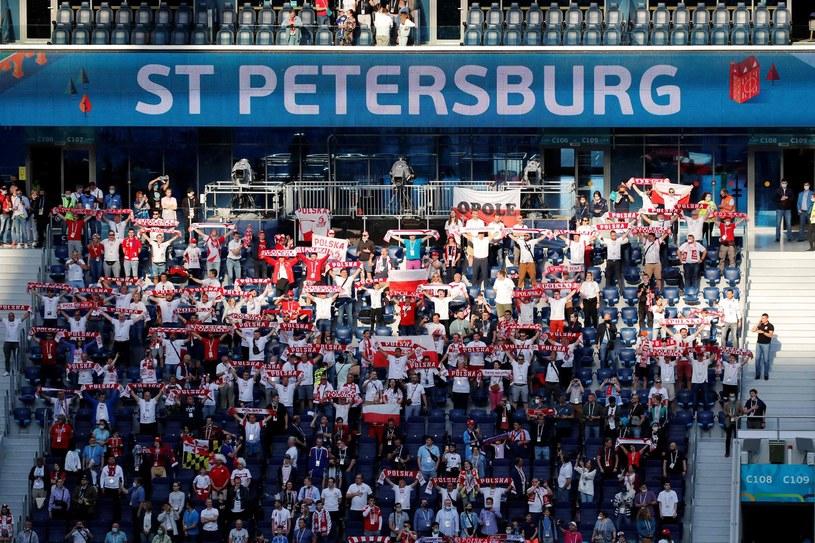 Polscy kibice w Sankt Petersburgu /AFP
