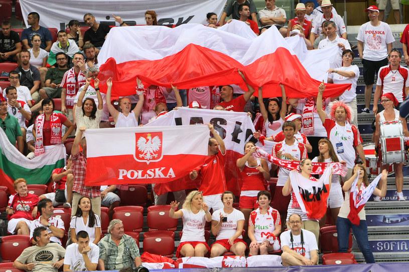 Polscy kibice w Sofii /- /www.fivb.org