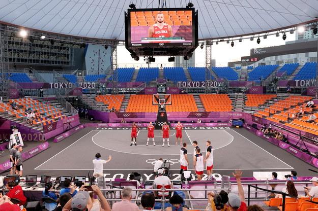 Polscy koszykarze 3x3 przed meczem z Rosją / Leszek Szymański    /PAP