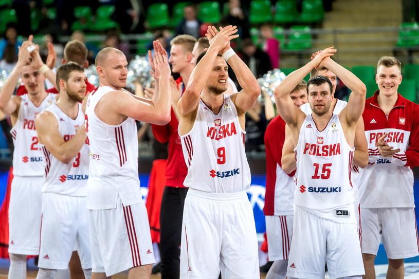 Polscy koszykarze po meczu z Węgrami /Tytus Żmijewski /PAP