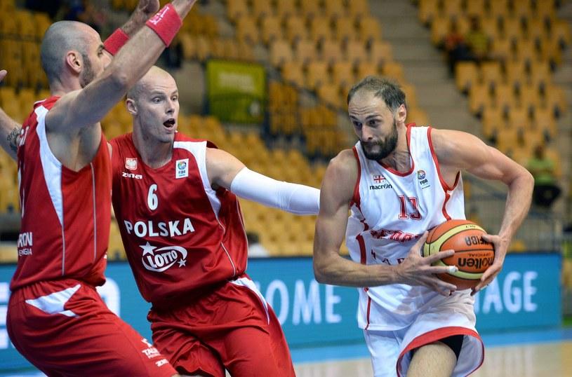 Polscy koszykarze podczas ME w Słowenii /AFP