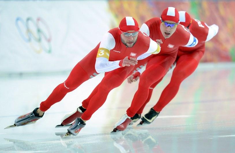 Polscy łyżwiarze na igrzyskach w Soczi /AFP