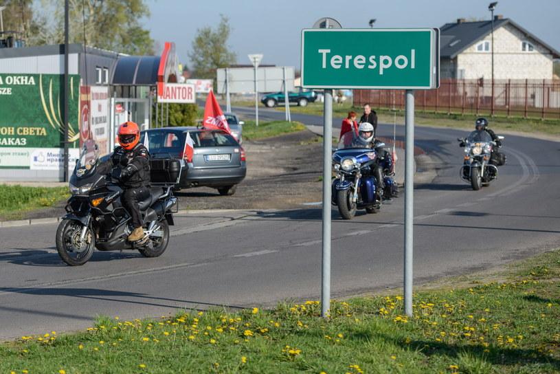 Polscy motocykliści z Międzynarodowego Motocyklowego Rajdu Katyńskiego /Wojciech Pacewicz /PAP