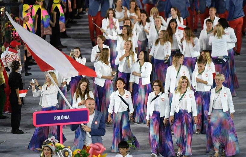 Polscy olimpijczycy na Maracanie w Rio de Janeiro /AFP