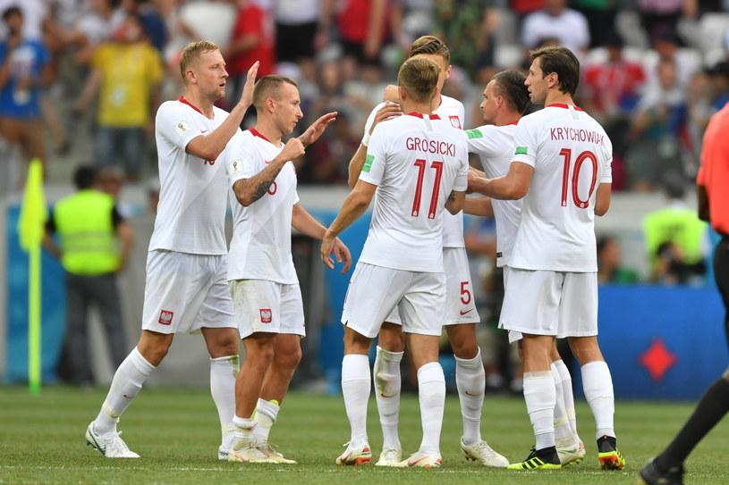 Polscy piłkarze po wygranej z Japonią /PAP/EPA