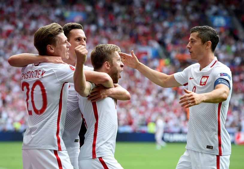 Polscy piłkarze podczas Euro 2016 /AFP