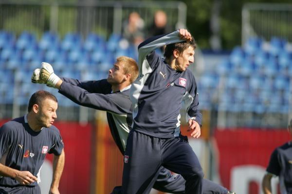 Polscy piłkarze przeprowadzili ostatni trening przed meczem z Anglią. Fot. Maciej Śmiarowski /Agencja Przegląd Sportowy