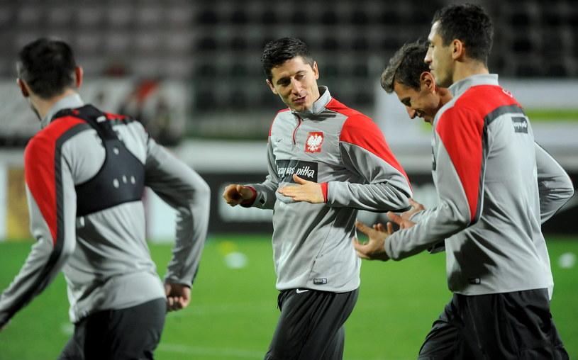Polscy piłkarze przygotowują się do meczu z Gruzją /Fot. Bartłomiej Zborowski /PAP