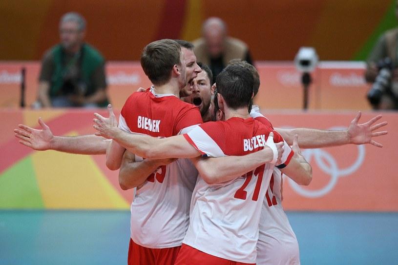 Polscy siatkarze na igrzyskach w Rio /AFP