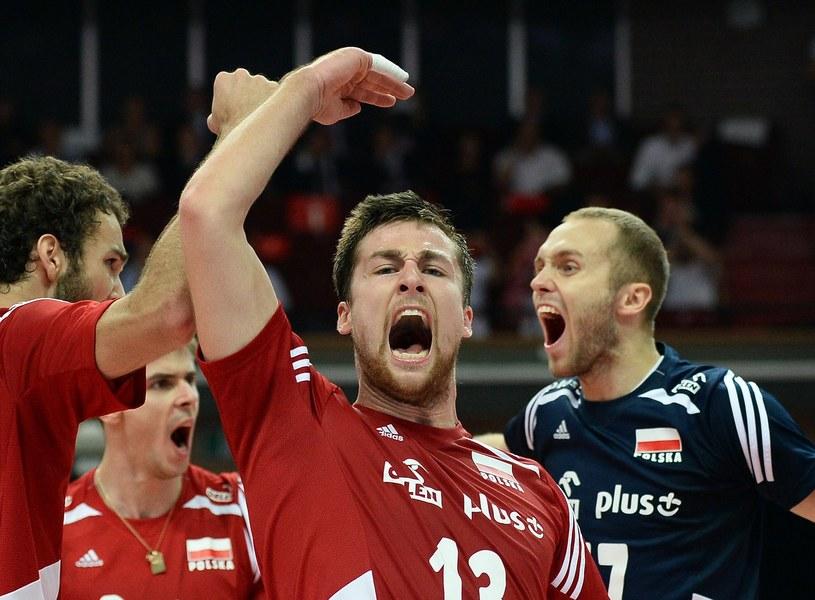 Polscy siatkarze podczas mistrzostw świata w naszym kraju /AFP