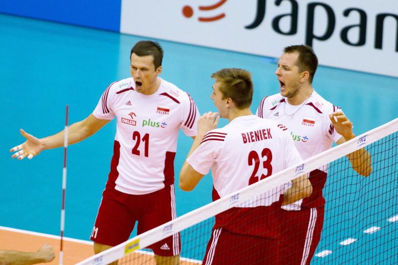 Polscy siatkarze walczą w Pucharze Świata o awans do igrzysk olimpijskich w Rio de Janeiro /Fot. Jacek Kostrzewski /PAP